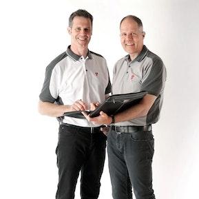 Firmeninhaber Martin und Andreas Wyss