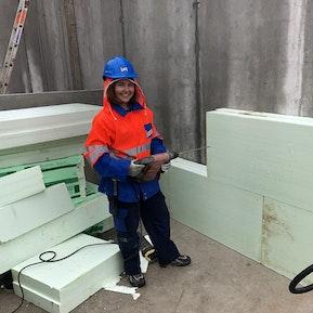 Während der Ausbildung - Baustellenpraktikum
