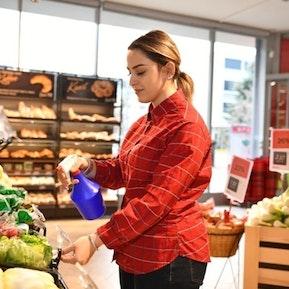 Früchte- und Gemüseabteilung