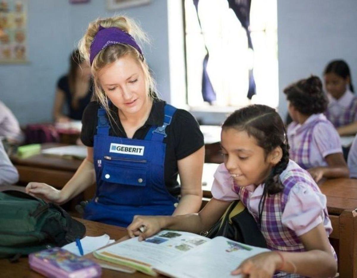 Soziales Engagement - Weltweite Hilfsprojekte mit Geberit Lernenden
